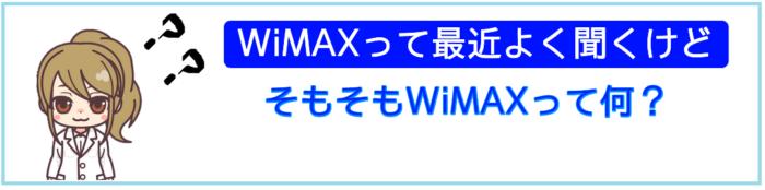 そもそもWiMAXって何?