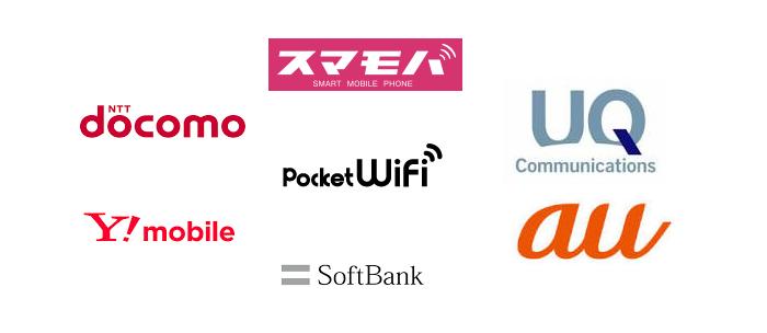ポケットWiFi(モバイル回線)には種類が沢山ある