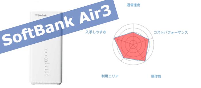 ソフトバンクのスマホを使ってるならSoftBank Air3