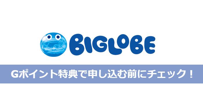 BIGLOBEのGポイント特典でWiMAXを申しむ前に必ず確認すべき3つの点!