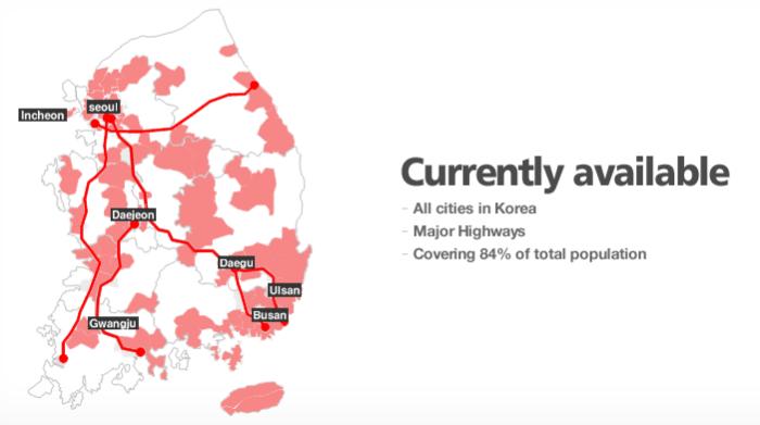 韓国WiMAXエリアマップ