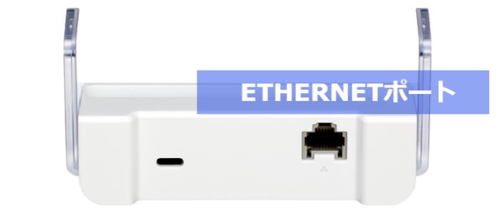 WX04専用クレードルのETHERNETポート