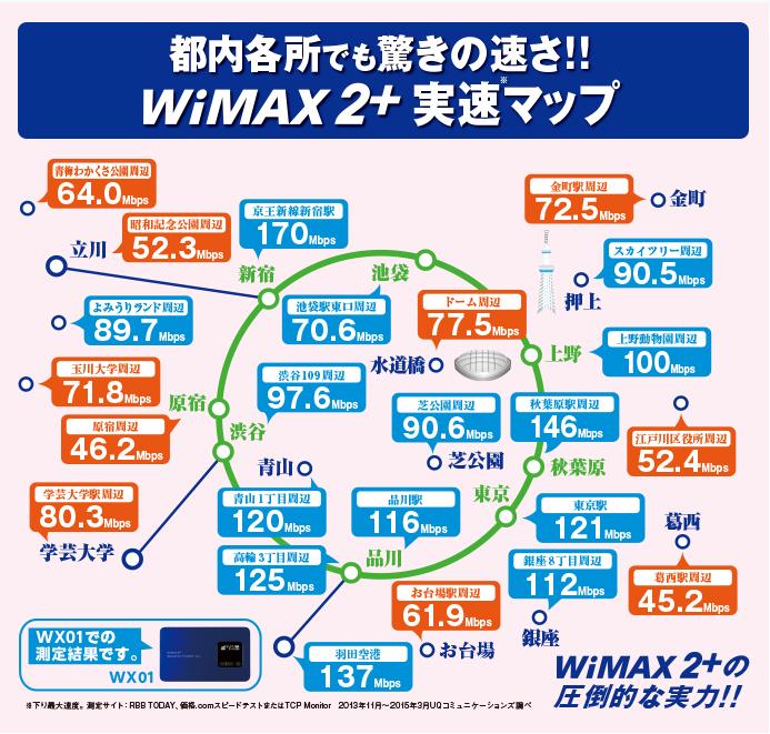 東京都内の実測マップ