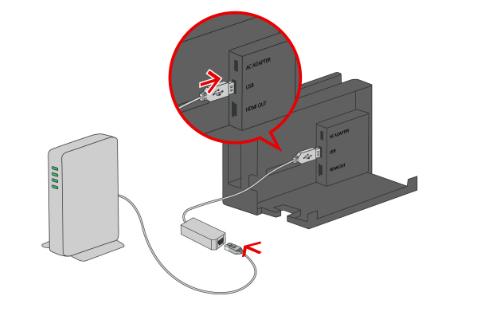 Nintendo スイッチを固定回線でネット接続.1
