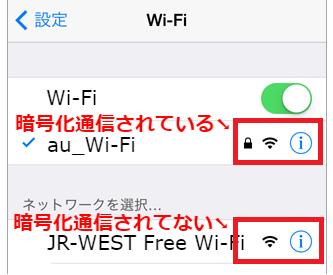 セキュリティー対策のされてないJR Free Wi-Fi