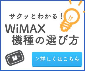 サクッとわかるWiMAX機種の選び方