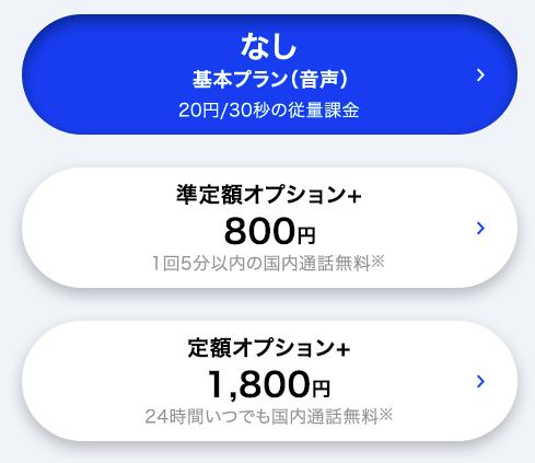 SoftBank 通話プラン オプション