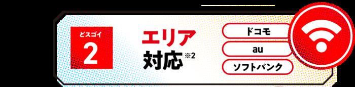 ドコモ ,au,SoftBank対応